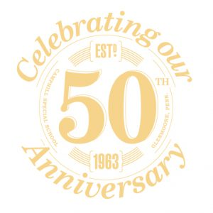 Artwork for the seal. It says: Celebrating our 50th Anniversary; Est. 1963.