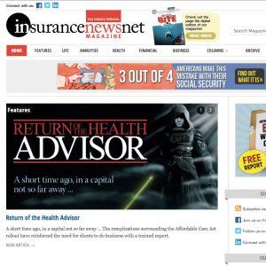 Magazine Site Homepage